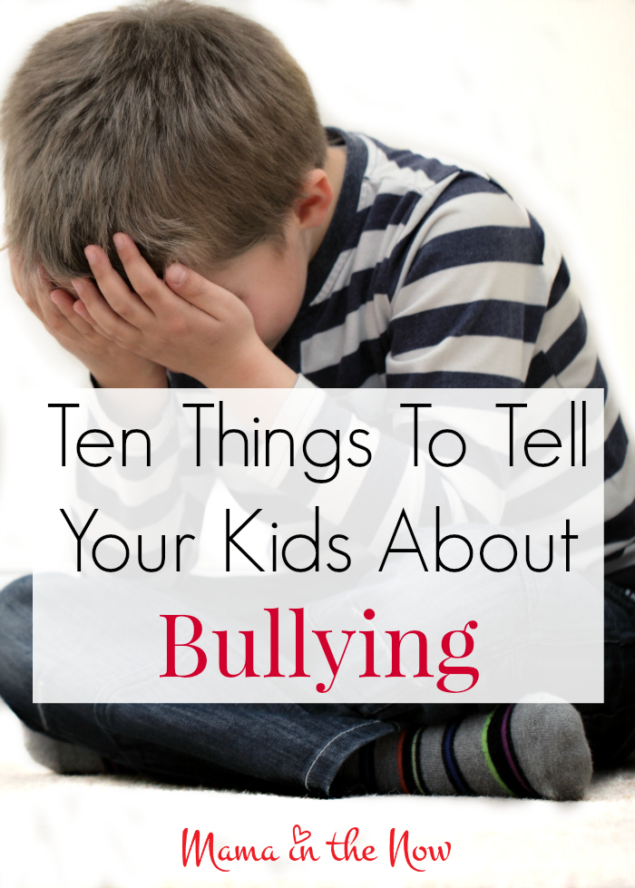 Talk to your kids about bullying. Talking about bullying, teaching your kids what to say and do if it happens to them or if they see it happening to others. Prevent bullying. #Bullying #StopBullying #Parenting #ParentingTips #PreventBullying