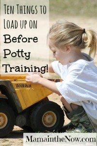 Ten Things to Load up On Before Potty Training!