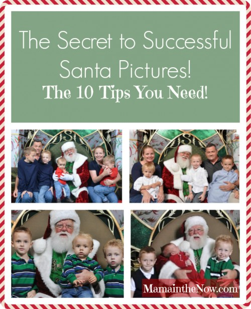 The secret to successful Santa pictures - tips from a mother of four. Get picture perfect Santa pictures every time. Pictures with Santa.