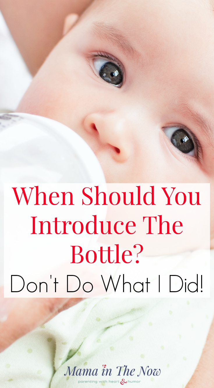 When Should You Introduce The Bottle to a Breastfed Baby? Don't Do What I Did! Instead - follow this advice from the experts. Click to find out what lactation consultants say about bottle feeding.