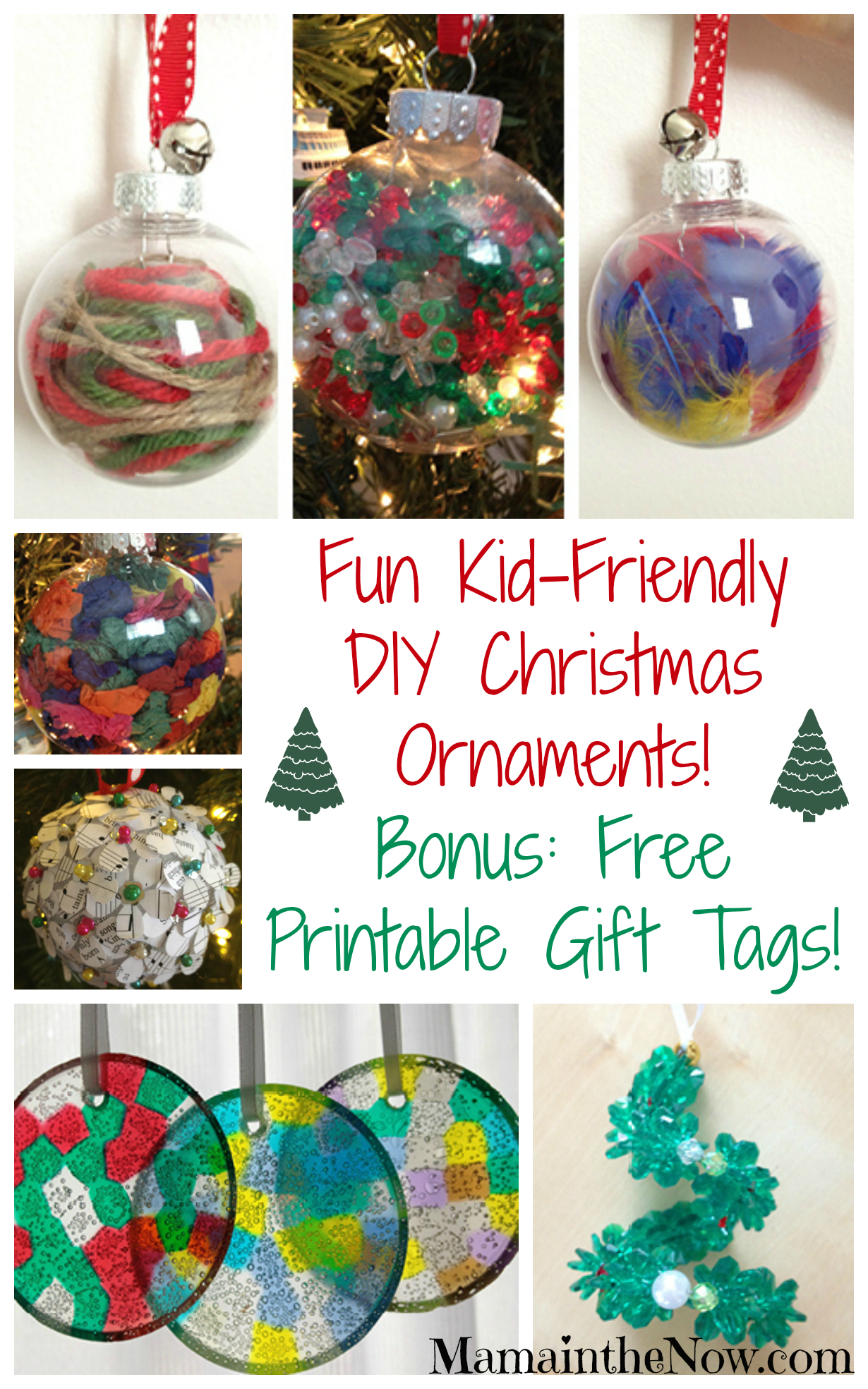 Easy Kid-Friendly DIY Christmas Ornaments!