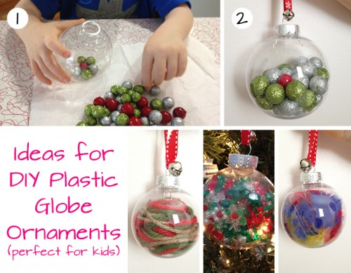 Fun Plastic Globe Ornaments for toddlers and preschoolers