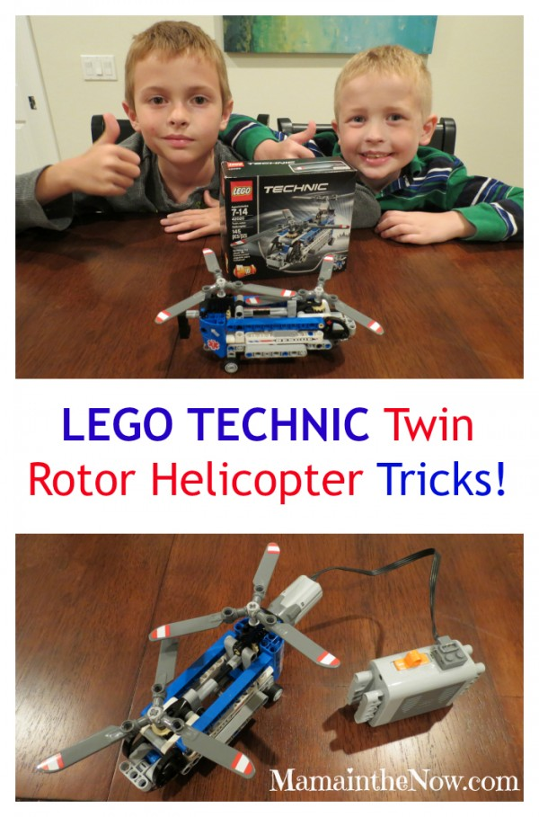 LEGO TECHNIC Twin Rotor Helicopter Tricks!