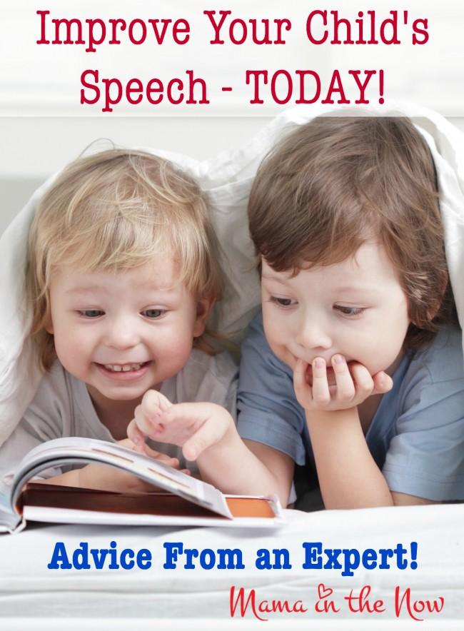 Improve Your Child's Speech TODAY! Advice from an expert, a Speech Language Pathologist (Speech Therapist)