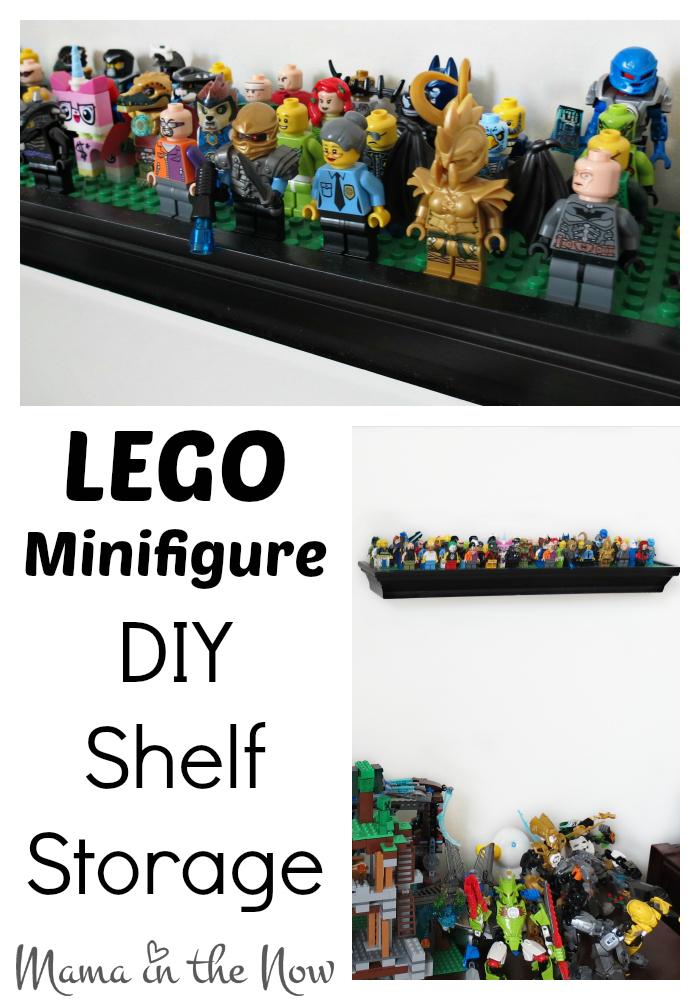 Lego Minifigure Diy Shelf Storage
