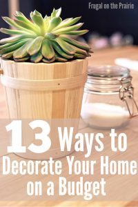 13 ways to decorate on a budget