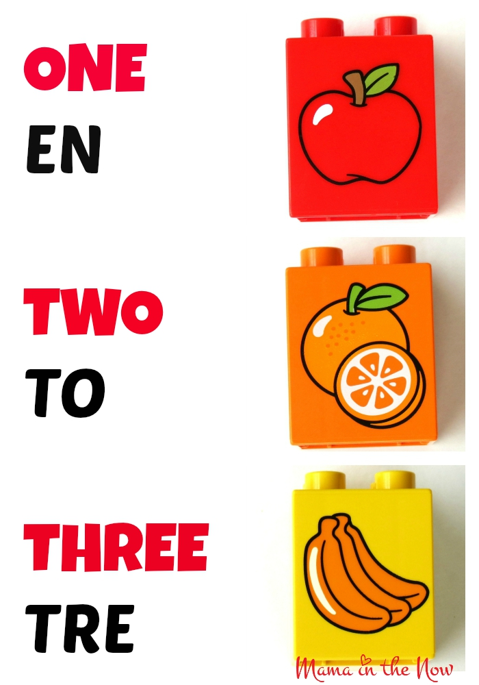DUPLO Danish English Numbers Flash Card