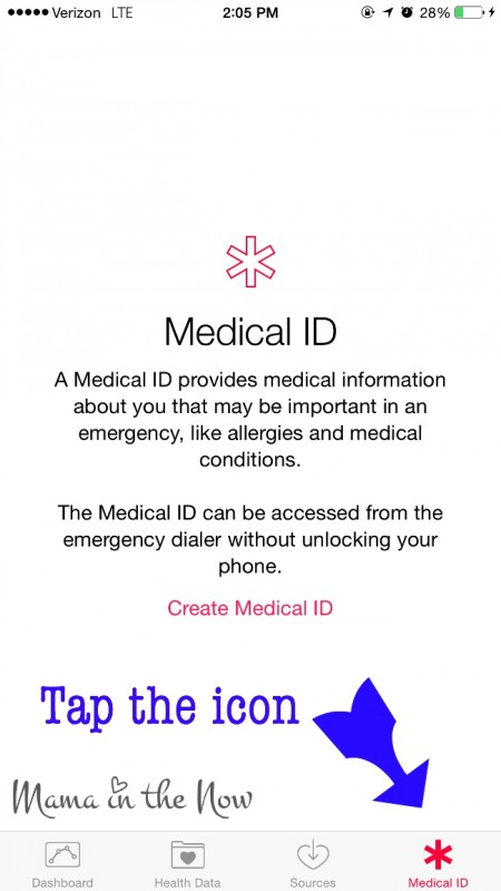 "Turn your iPhone into a life saving device. Look for the red ""Medical ID"" icon."