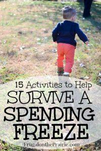 Activities to survive a spending freeze