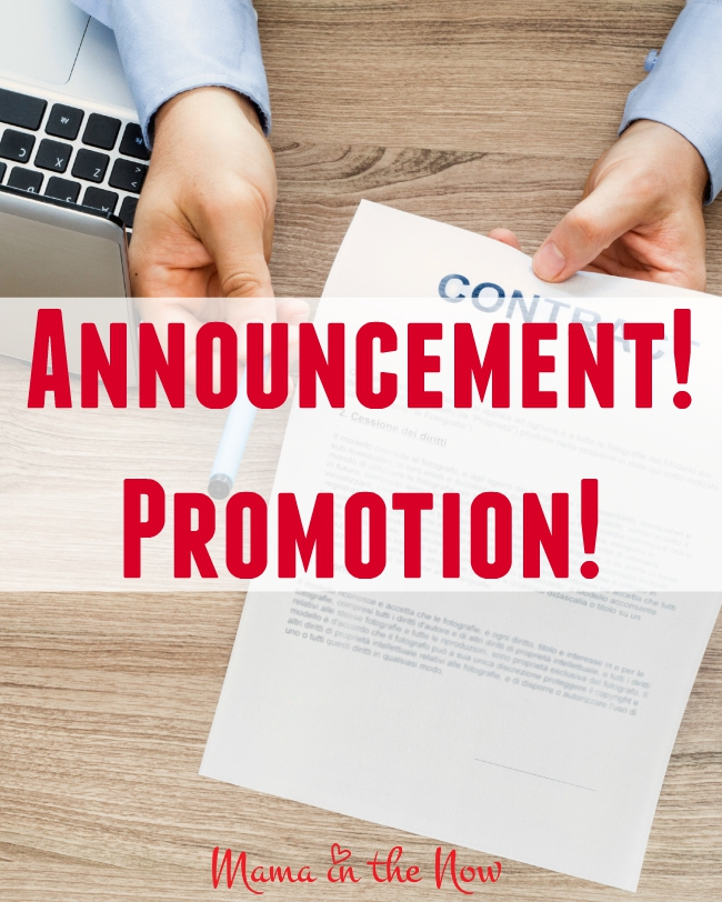 Announcement! My big promotion. You do NOT want to miss this!