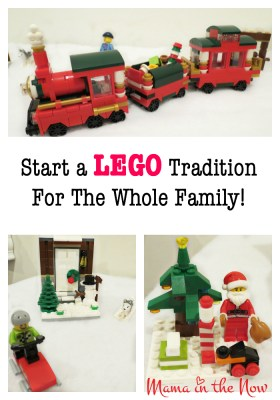 Start a LEGO tradition for the whole family! This will grow and expand as the years go by - and the kids will LOVE setting it up each and every year! So much fun!