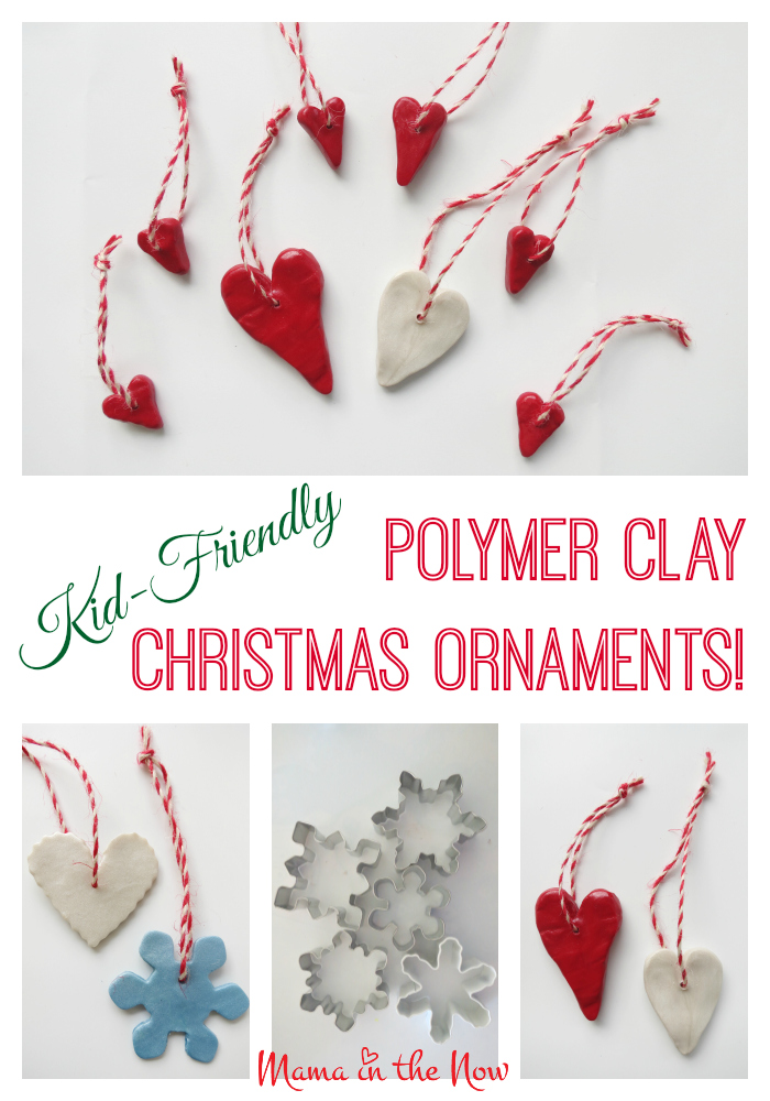 Polymer Clay Christmas Tree Decorations.Kid Friendly Polymer Clay Christmas Ornaments