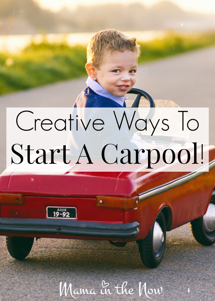 Creative ways to start a carpool for your children. Tips from a mother of four who had to rely on carpools for years.