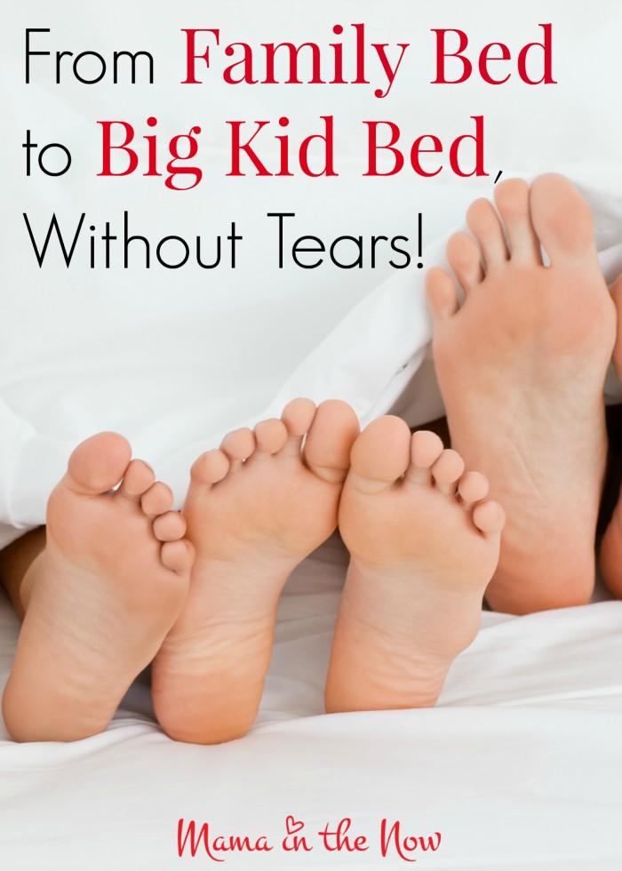 From family bed to big kid bed, without tears! A gentle approach for toddlers and preschoolers to end their bed-sharing and co-sleeping relationship.