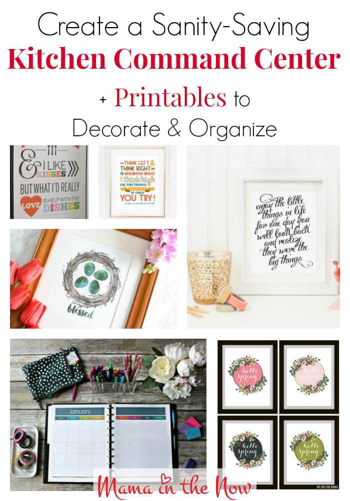 Create a sanity-saving command center with these important tips from a professional organizer. Printables to decorate and organize too!