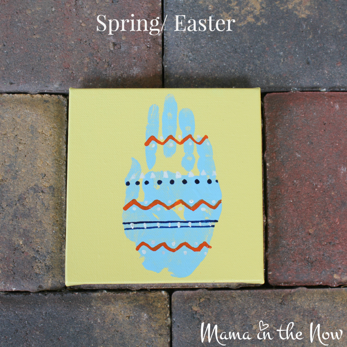 The bunny and the Easter egg handprint art are a great gift idea for grandparents, teachers and parents alike. Easy craft idea for toddlers and babies, kids of all ages.