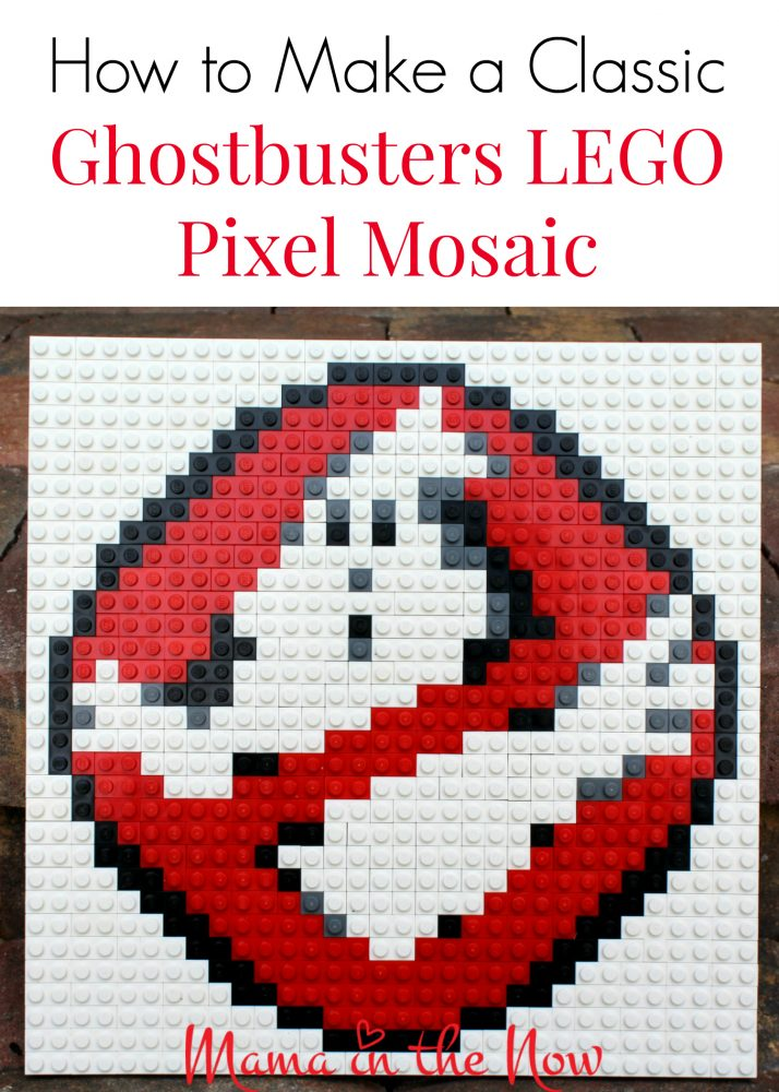 How to make a classic Ghostbusters LEGO pixel mosaic art. Step by step instructions included. LEGO brick art is a great craft for adults and kids alike.