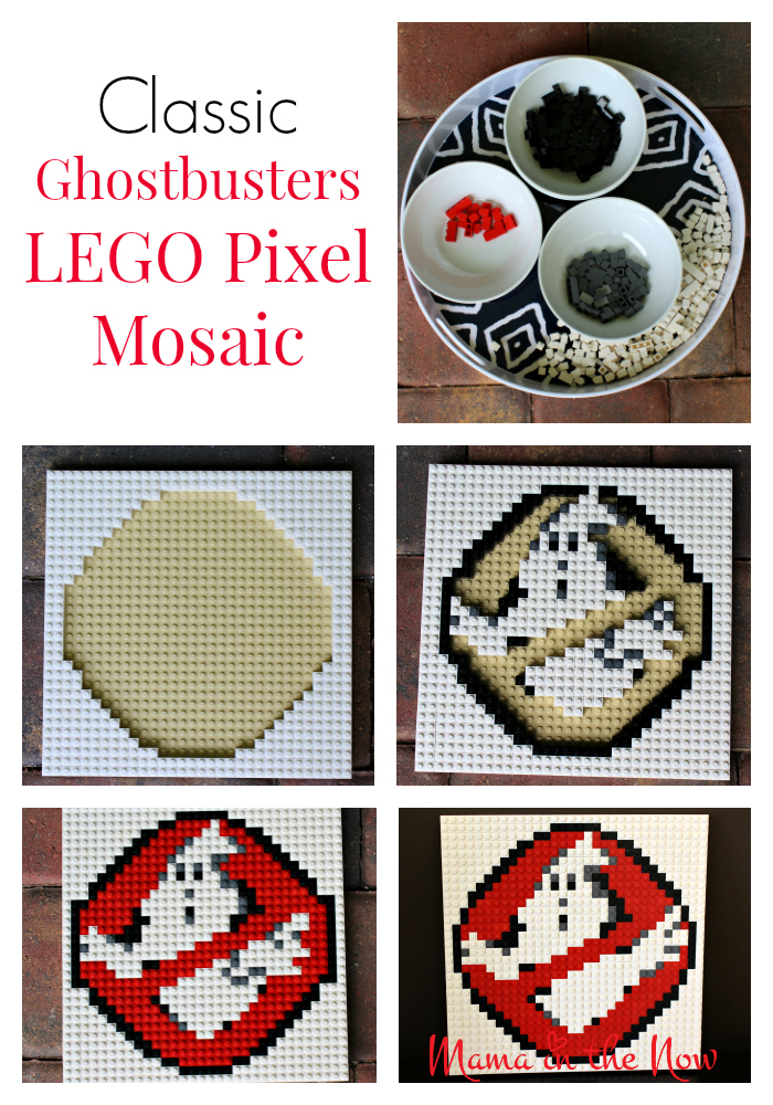 How to make a classic Ghostbusters LEGO pixel mosaic art. LEGO brick art is a great craft for adults and kids alike.