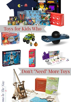 STEM/ STEAM toys, toys that promote open play and play-based learning, LEGO - all great gift ideas for kids who seem to have too many toys.