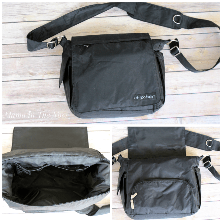 Ah Goo Baby Grab-and-Go messenger bag is perfect for your daily errands. This bag is the Swiss Army knife of diaper bags.