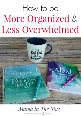Enjoy motherhood again, stop feeling overwhelmed. Take control and get organized. Being an organized mom will save your sanity. Tips from a mother of four.