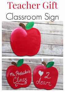 This personalized wood classroom sign is the perfect teacher gift. Great for back to school and teacher appreciation week. Write a cute saying or add the teacher's name - either is sure to be a hit!
