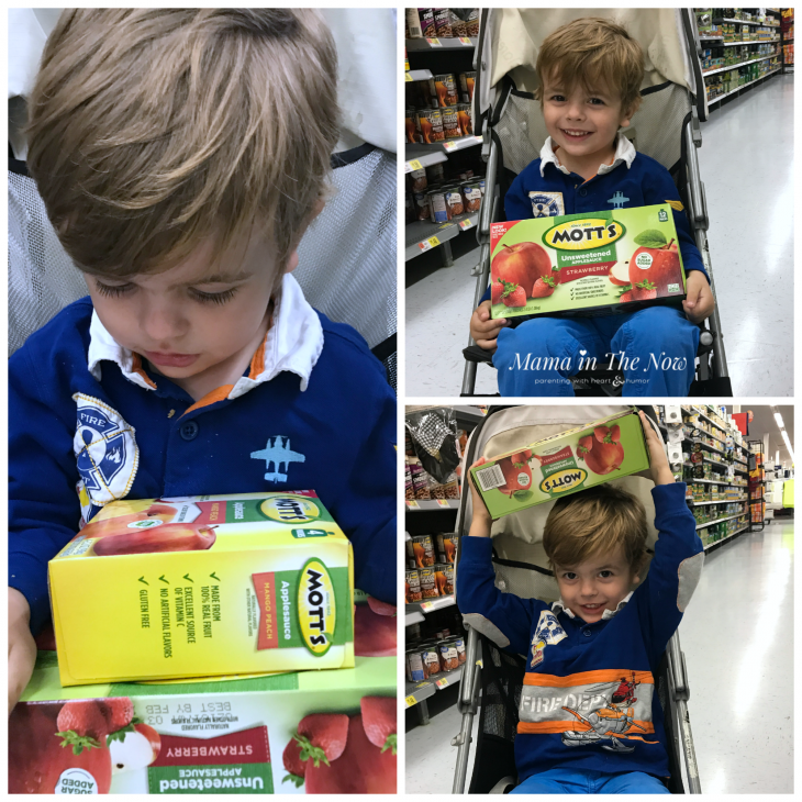 #WatchMeGrow with Mott's Applesauce. Guilt-free snacks and juices for moms and kids.