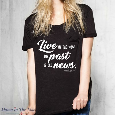 This empowering mantra and quote encourages strong women to be mindful and present in the moment. Great graphic tee for a yogi, moms, women celebrating a happy life. Stocking stuffer for a friend.