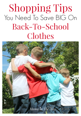 Shopping tips for back-to-school shopping without breaking the bank - from a mother of four. Frugal tips and hacks to save money on kid's clothes for large families.