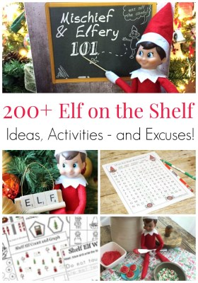 200+ Elf on the Shelf Ideas, Activities – and Excuses!