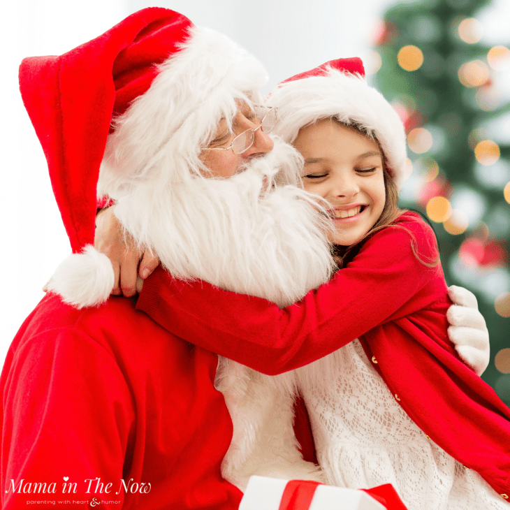 10 must-read tips for picture perfect visits with Santa. Get these fool-proof tips for great Santa pictures from a mother of four. No more tears during Christmas pictures with Santa. #SantaPictures #SantaPhotography #SantaVisit #ParentingTIp #Christmas