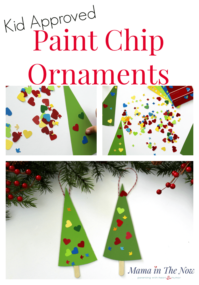 Kid Approved Paint Chip Ornaments