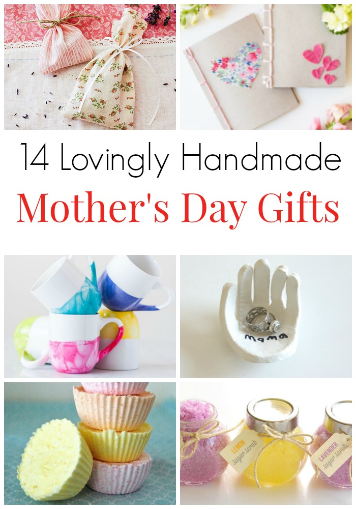 14 Lovingly Handmade Gifts for Mother's Day. Sweet gifts to make for mom. Surprise Mom on Mother's Day or on her birthday with these homemade thoughtful gifts - also great for mother-in-laws and grandparents. Adorable gifts for mom. Lovingly made presents for mom. #MothersDay #GiftsForMom #GiftsforMotherInLaw #Handmade #Homemade #mamainthenow
