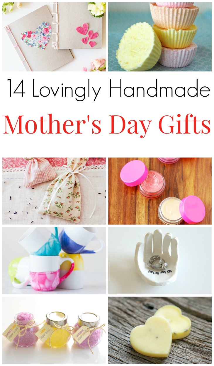 14 Lovingly Handmade Mother's Day Gifts. Homemade Mother's Day presents and birthday gifts. Celebrate mom or yourself with these fun to make crafts for kids and adults. Thoughtful Mother's Day crafts! #MothersDay #MotherinLaw #Motherhood #GiftsforMom #GiftsforGrandma #MamaintheNow
