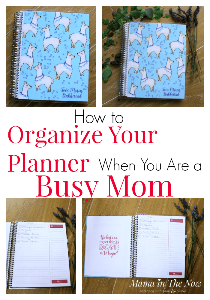 How to organize an Erin Condren journal or notebook for busy moms. Tips on journaling, note taking and staying stress-free and sane during back to school. #Stressfree #StressfreeMom #MamaintheNow #ErinCondren #ErinCondrenNoteBook #ErinCondrenReview