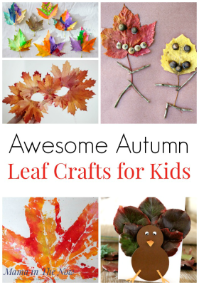 Awesome Autumn Leaf Crafts for Kids. Fall leaf crafts to make with kids. Fall crafts using leaves. Autumn crafts using leaves. Crafts for kids. Having fun with mother nature. #AutumnLeafCrafts #FallLeafCrafts #CraftsforKids #FallCraftsForKids #AutumnCraftsForKids #FallFun #AutumnFun #NaturePlay #NatureCrafts #forkids #MamaintheNow