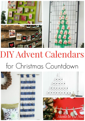 DIY Advent Countdown for Christmas Calendars. Christmas countdown for kids. Daily advent calendars for kids. These DIY Christmas advent calendars are Christmas fun for the whole family. #Advent #Adventcalendars #DIYChristmas #DIYAdventCalendar #DIYAdventCalendars #CountdowntoChristmas #mamainthenow #ChristmasCrafts