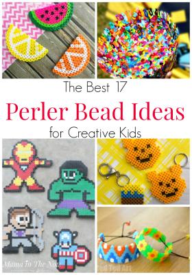 The best Perler bead ideas for creative kids. Great craft for fine motor skills. Perler bead craft ideas. Hama bead craft ideas. Melting bead ideas. Crafts for kids. Fun crafts for tweens. Crafts for teens. Perler bead patterns for kids. #MamaintheNow