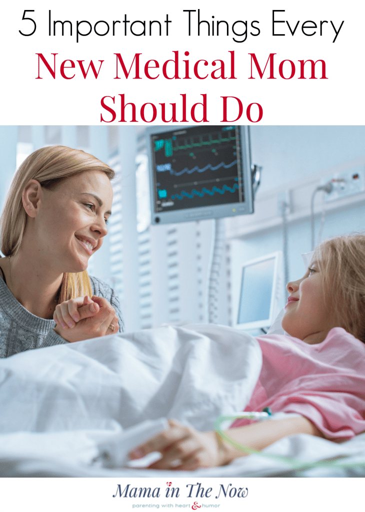 Encouragement for special needs mom. Help to adjust to your new normal. Newly diagnosed medical moms and heart moms, tips on how to find your happiness again. 5 things every special needs mom should do - TODAY! Support for special needs moms. Help for medical moms. #SpecialNeedsMom #MedicalMom #HeartMom #mamainthenow