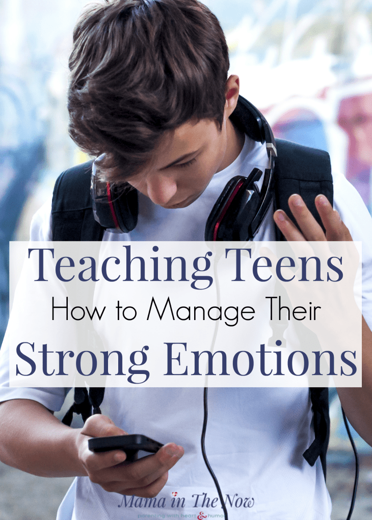 Parenting teens is never easy. Get these parenting tips for raising emotionally balanced teens. Teen parenting tips. Emotional balancing tips for teens. Teaching teens how to manage their big and strong emotions. #Teenparenting #ParentingTips #ParentingTeensTips #RaisingTeens #MamaintheNow