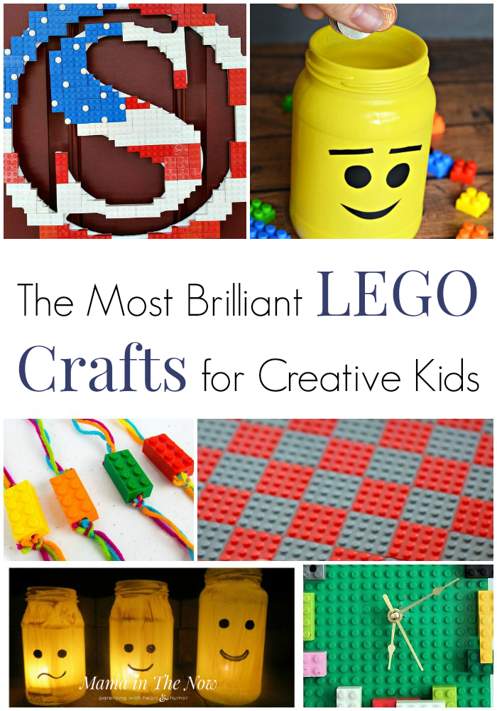 Brilliant LEGO crafts for creative kids. LEGO craft ideas for kids of all ages. Create with LEGO. Crafts for kids using LEGO. Projects for kids using LEGO. #LEGO #LEGOCrafts #LEGOFun #CraftsforKids #CreativeKids #MamaintheNow
