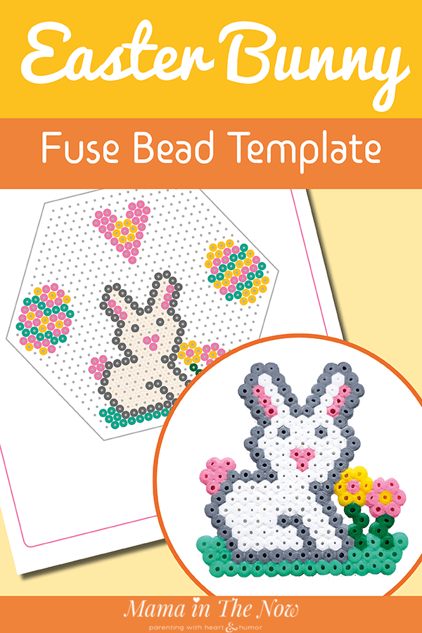 How to Make the Cutest Perler Bead Bunny - Free Template