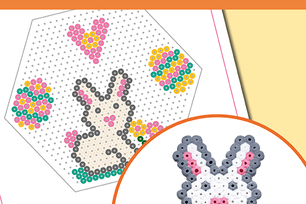 How to Make the Cutest Perler Bead Bunny – FREE Printable Template