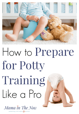Potty training toddler on a potty chair