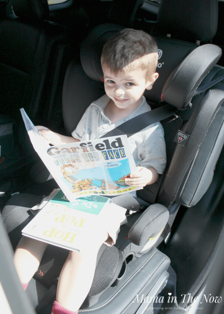 The booster seats of choice from a mother of four. Learn how and when to move your child into a booster seat. #Diono #DionoReview #BoosterSeatReview #CarSeatReview #mamainthenow