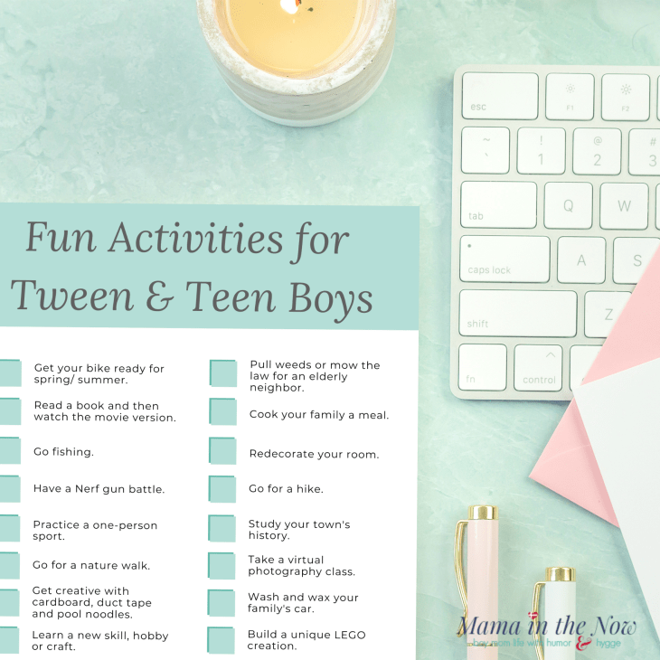 20 fun activities for tween and teen boys