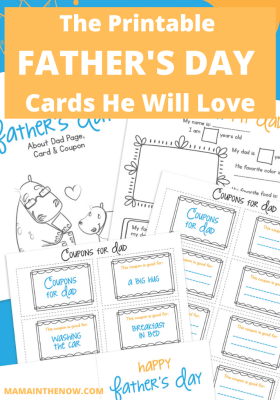 printable cards for Father's Day
