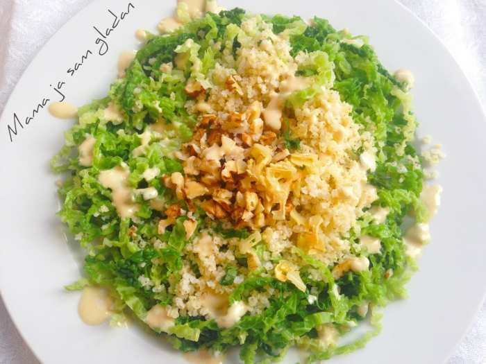 Salata od kelja i prosa