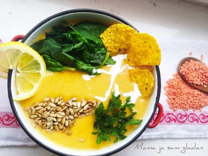 Gusta juha od crvene leće2