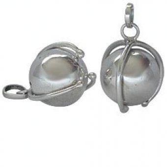 Silver Pregnancy Bola pendant   Mia 1 - Silver Pregnancy Bola pendant - Mia-